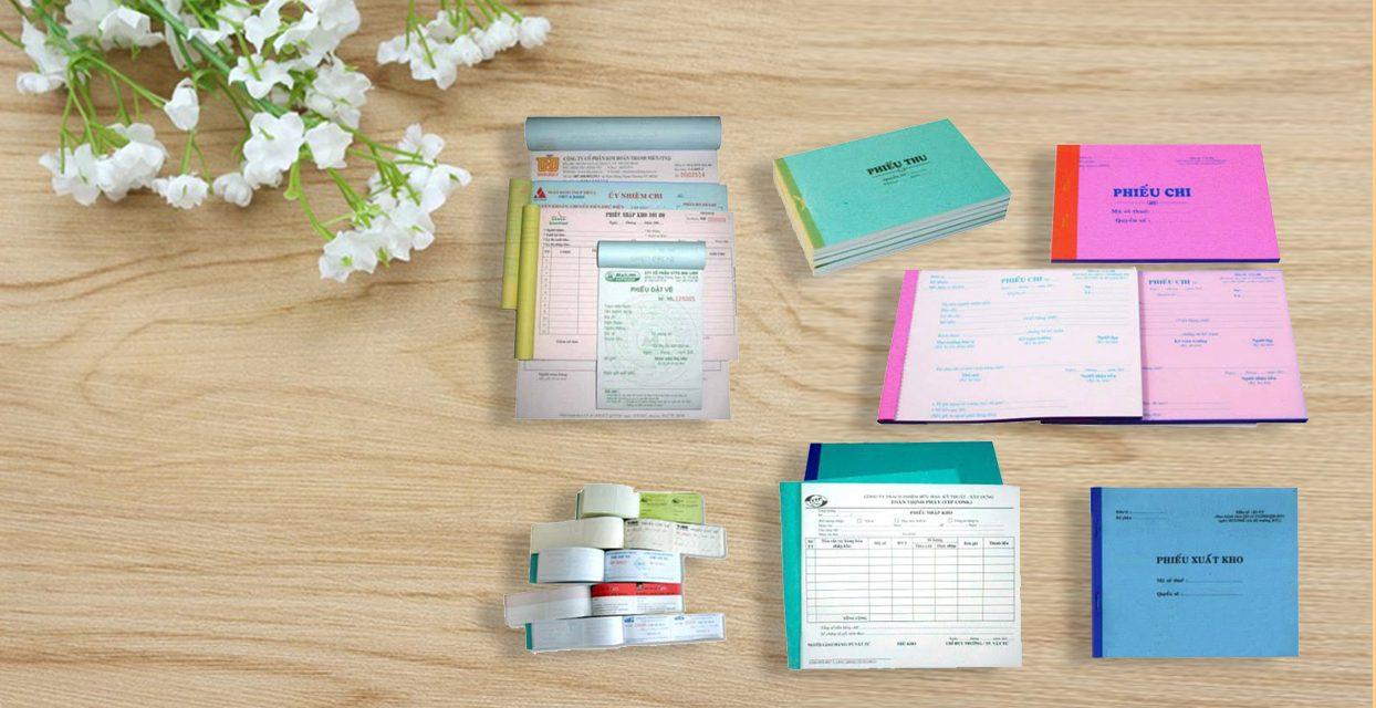 in hóa đơn, mẫu sổ sách kế toán